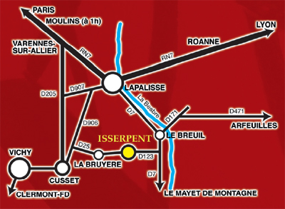 Plan du village d'Isserpent